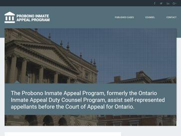 Probono Inmate Appeal Program