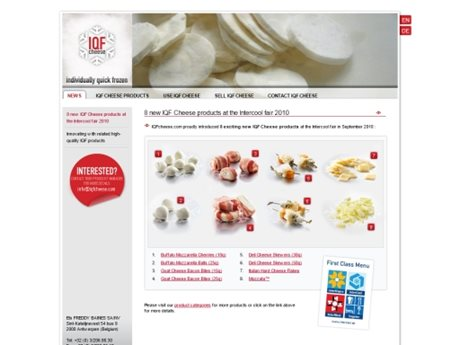 IQF Cheese Products