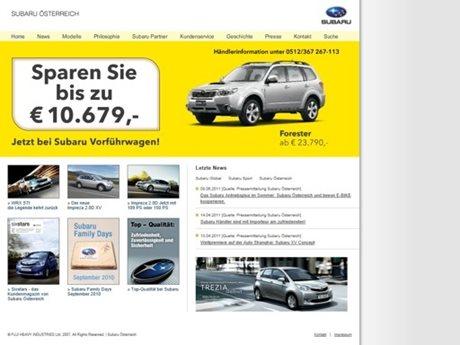 Subaru Osterich Offiziele Internetseite