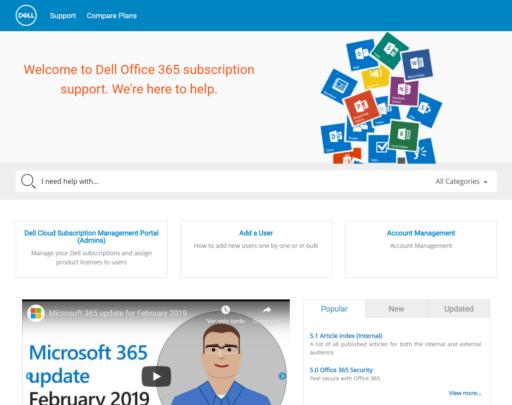 Dell Office 365 Support Portal