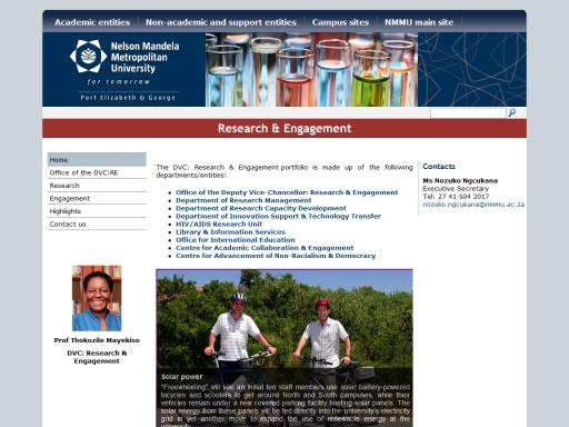 Nelson Mandela Metropolitan University - Research & Engagement