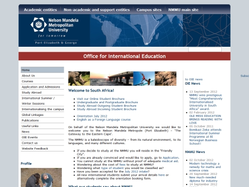 Nelson Mandela Metropolitan University - Office for International Education