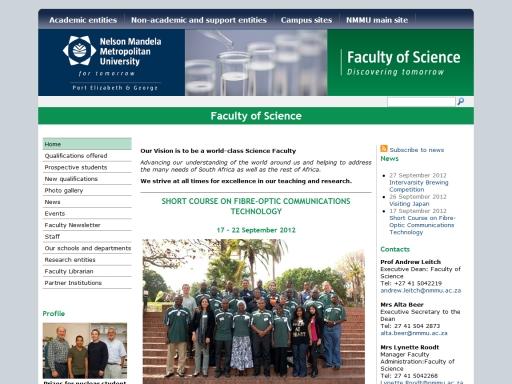 Nelson Mandela Metropolitan University - Faculty of Science
