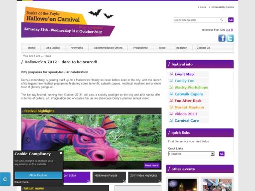Derry City Tourism Campaigns Site