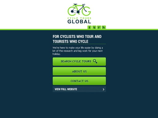 Cycle Tours Global Mobile Website