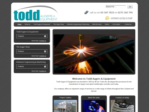 Todd Augers & Equipment