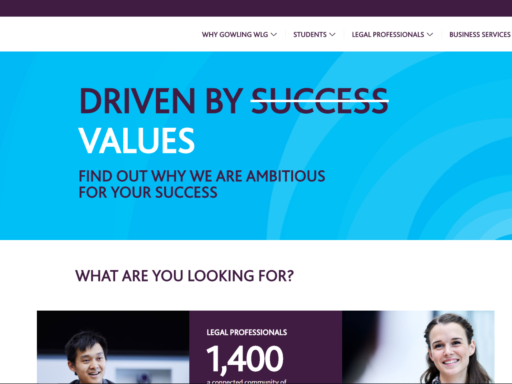 Gowling UK Careers site