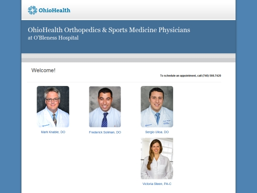 OhioHealth Orthopedics & Sports Medicine Physicians at O'Bleness Hospital