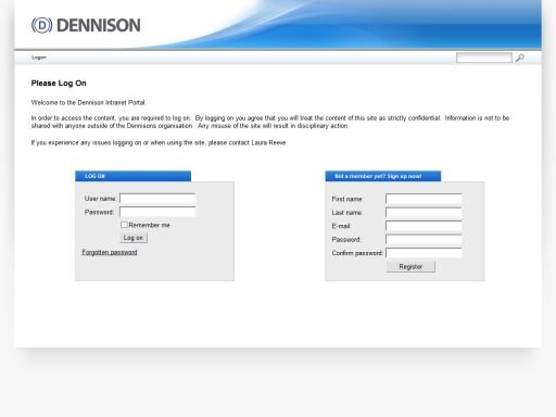Dennison Commercials Intranet