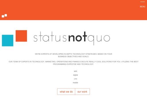 Status Not Quo
